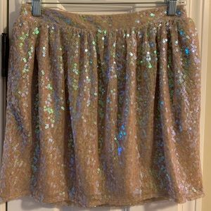 BCBGeneration sequined mini skirt, Nude